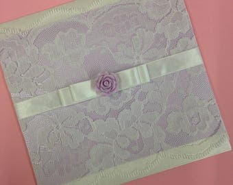 Lace and Rose Wedding Invitation