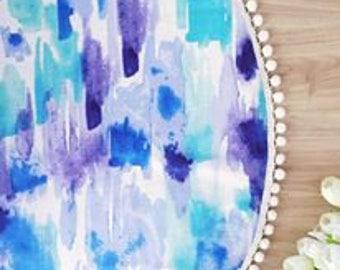 Watercolour Blue Playmat