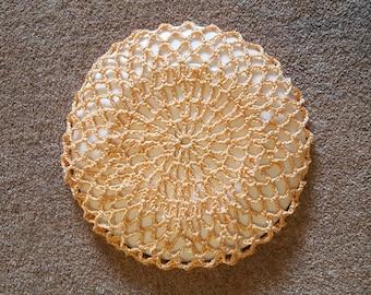 Hand crochet vintage style hair net/ snood