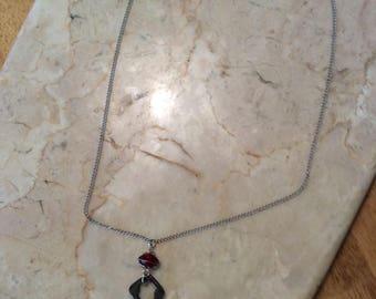"""Triangular Shaped 1.5"""" Authentic Skeleton Key Necklace"""