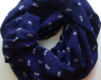 Bicycle Infinity Scarf - Navy