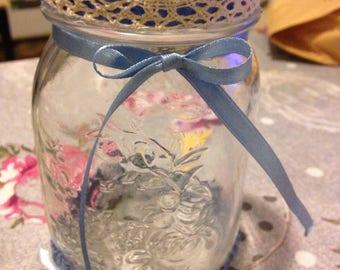 Hand decorated vase