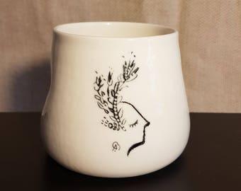 Cup illustrated porcelain, model 4