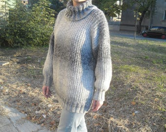New hand knitted mohair and wool sweater