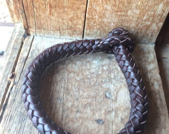 Braided Leather Brown strap