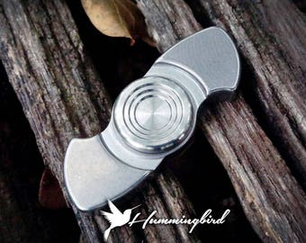 The Hummingbird Fidget Spinner in Stainless Steel