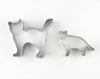 2pcs/Set Cats Kitten Cookie Cutters- Fondant Biscuit Mold - Pastry Baking Tool Set