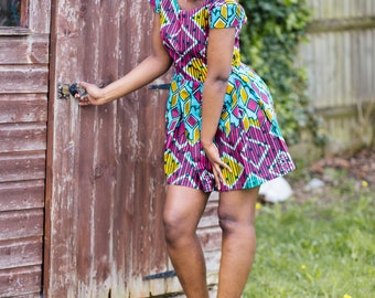 Ohemaa African fabric dress