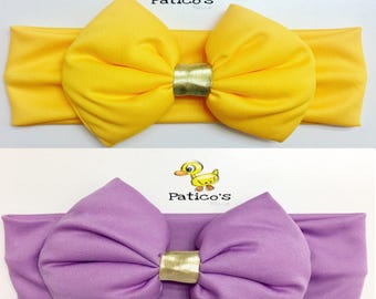 2 baby headband hairband Cute girl niña Bandanas bow lazo