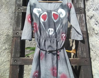 Hand painted Lady dress