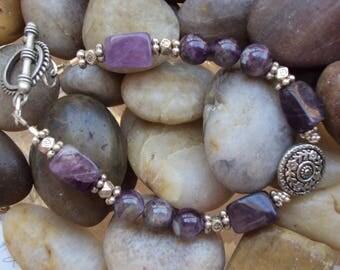 Genuine Amethyst Stone Bracelet