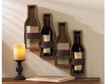 Rustic Winery Wall Rack
