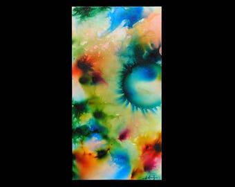 "Firework Art Painting ""Emerald Toxin"" by Alexandria Mooney Jones - Firework Artist"