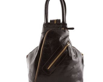 Genuine Leather Woman Backpack 2 Pockets