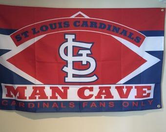 St. Louis Cardinal Man Cave Wall Flag