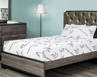 """Fortnight Bedding 6"""" Gel Memory Foam Mattress w Bamboo Cover, Cot size 30x74 for RV, Cot,Folding, Guest & Day Bed- CertiPUR-US® Certified"""
