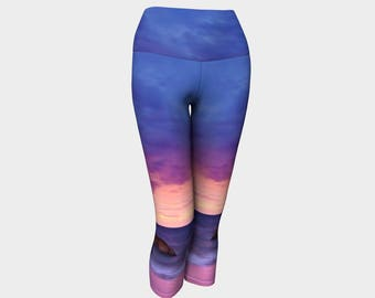 Purple Sunset Yoga Capris
