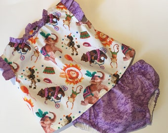 Set baby circus, cubrepanal and blouse