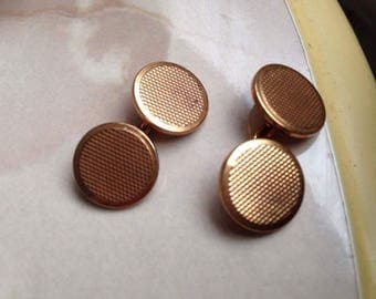 Cufflinks vintage plated gold