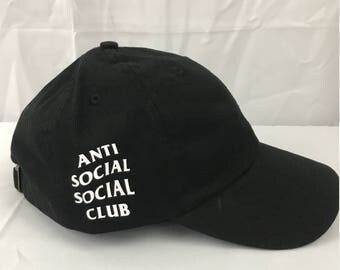 Anti Social Social Club Hat / WEIRD Cap BLack / Dad Hat