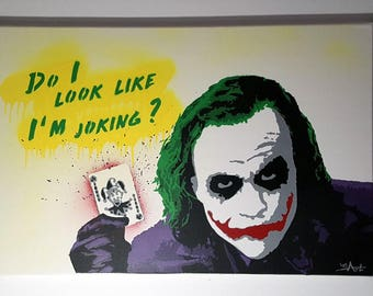 Graffiti art - Joker - 100% spray - No. print