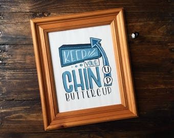 Keep Your Chin Up Buttercup Hand Painted Art