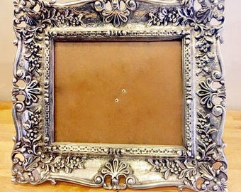 Antique Pewter Picture Frame