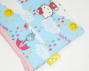 SALE SALE SALE - 20% Off Kawaii Padded Zip Pouch / Camera Bag / Hello Kitty Cell Phone Case / Rainy Day Cosmetic Bag / Purse Organizer / Coi