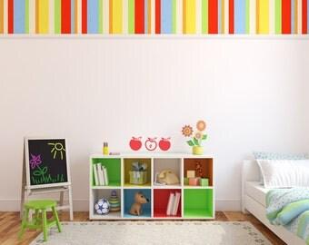 Apple Vinyl Decals (Set of 2) size LARGE, Kitchen Apple Decal, Kitchen Vinyl Decal,  Apple Wall Sticker, Kitchen Décor