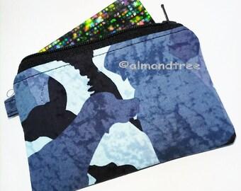 Dog, women wallet, not padded credit card case, zip coin purse, id276701, portemonnaie, portefeuille cardholder, porte carte