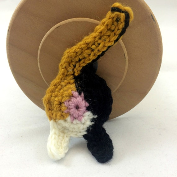 Calico Cat Butt Keychain or Ornament