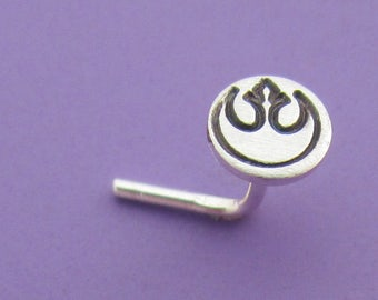 Rebel Insignia Disc Nose Stud