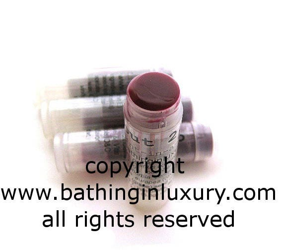 Blackberry Lip Tint Lip Balm - Sheer Coverage Natural looking sunkissed color -  VEGAN Blackberry with a touch of Lime