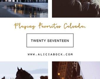 2017 Calendar - Playing Favorites - Fine Art Calendar - Inspiration - Alicia Bock - Horse - Sea - Flower Art - Lighthouse - Bike - Beach