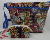 Special Order Wonder Woman Pocket and Mini Box Bag - Reserved for hiscraftybitch