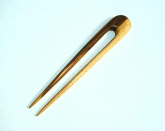 """6"""" Round Top Hair Fork  (Hand Carved Maple)"""