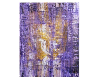 """Original Abstract Painting on canvas, Riviera Lemon by Lisa Carney, 30x24"""", Large Contemporary Art, Colorful, Colorfield, Purple, yellow"""