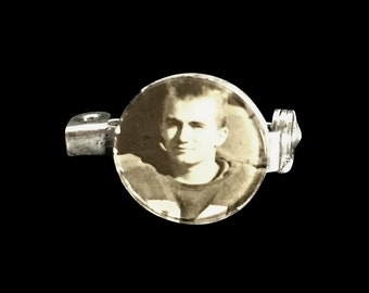 Vintage Football Player Pin