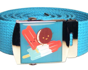 Rocketing Ice Pops Canvas Belt