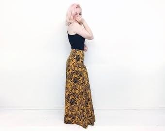 Maxi skirt tropical print indian cotton fabric summer skirt festival hippie boho