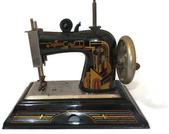Vintage toy sewing machine etsy for Machine a coudre king jouet