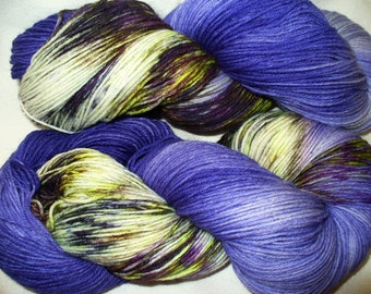 Hand Dyed Superwash Merino and Nylon Sock Weight Wool Yarn for Knitting or Crochet