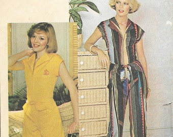 McCall's 5122 - Vintage 1970s JUMPSUIT or ROMPER / PLAYSUIT - Sewing Pattern - Size 14 - 36 Bust - Uncut