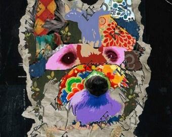 Pop Art Westie West Highland Terrier Dog - 5x7 - Instant Download