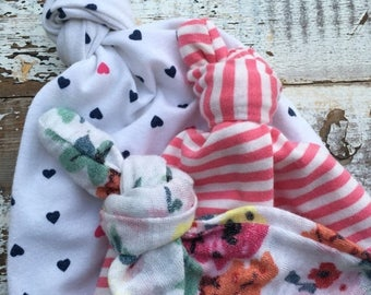 40% OFF- Baby Hat Trio-Wee One's Caps- Gift Set-3-6 Months