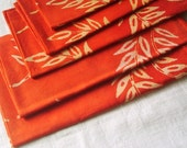 Custom Order- Rust Orange and Golden Rod Napkin/Towel set