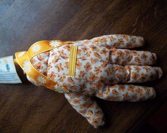 Grandma's PADDLE Butterflies Stuffed Hand Fall Autumn Colors Yellow Orangew Shirley Thomas Tag