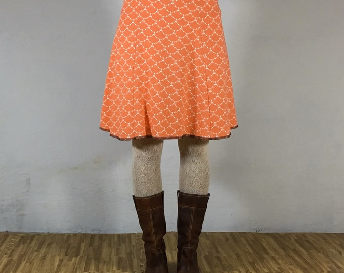 Snap Around Skirt, Coral Scallop Flirt by Erin MacLeod