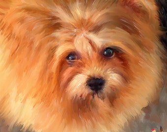 Custom Pet Portrait - Custom Dog Portrait -Oil Painting from your Photo - Portraits by NC
