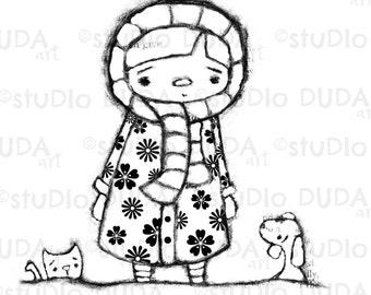 Covered in Kindness 3 Versions Digital Stamp - Printable - Art to Color by Duda Daze